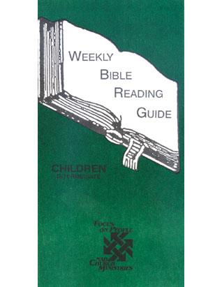 Weekly Bible Reading Guide-Intermediate