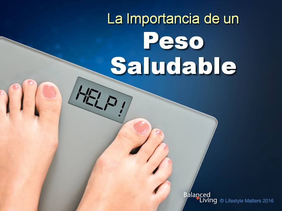 Healthy Weight Helps - Balanced Living - PPT Download (Spanish)