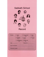 Sabbath School Class Record Card (All Divisions)