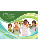 Choose Full Life - More Plant Foods and Balanced Diet (Postcard)(pkg of 100)