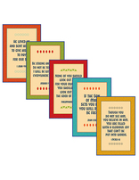 Jamii Kingdom VBS Daily Bible Verse Posters (Set of 5)
