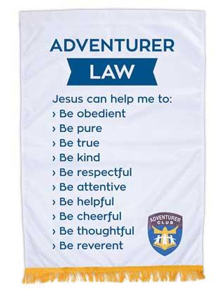 Adventurer Club Law Banner (English)