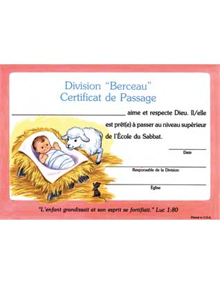 Beginner Promotion Certificate (French) (10)
