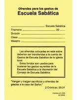 Sabbath School Expense Offering Envelopes (Spanish)
