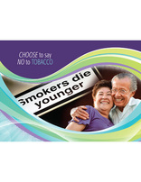 Choose Full Life - No To Tobacco (Postcard)(pkg of 100)