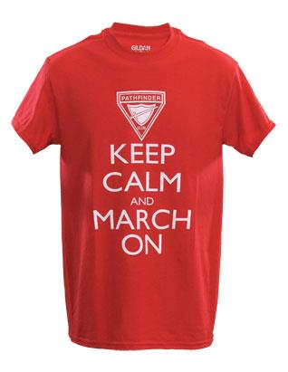 Keep Calm and March On - Red T-shirt