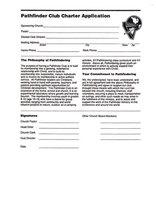 Pathfinder Club Charter Application