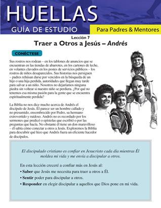 Guía de Huellas para padres y mentores - Lección 7