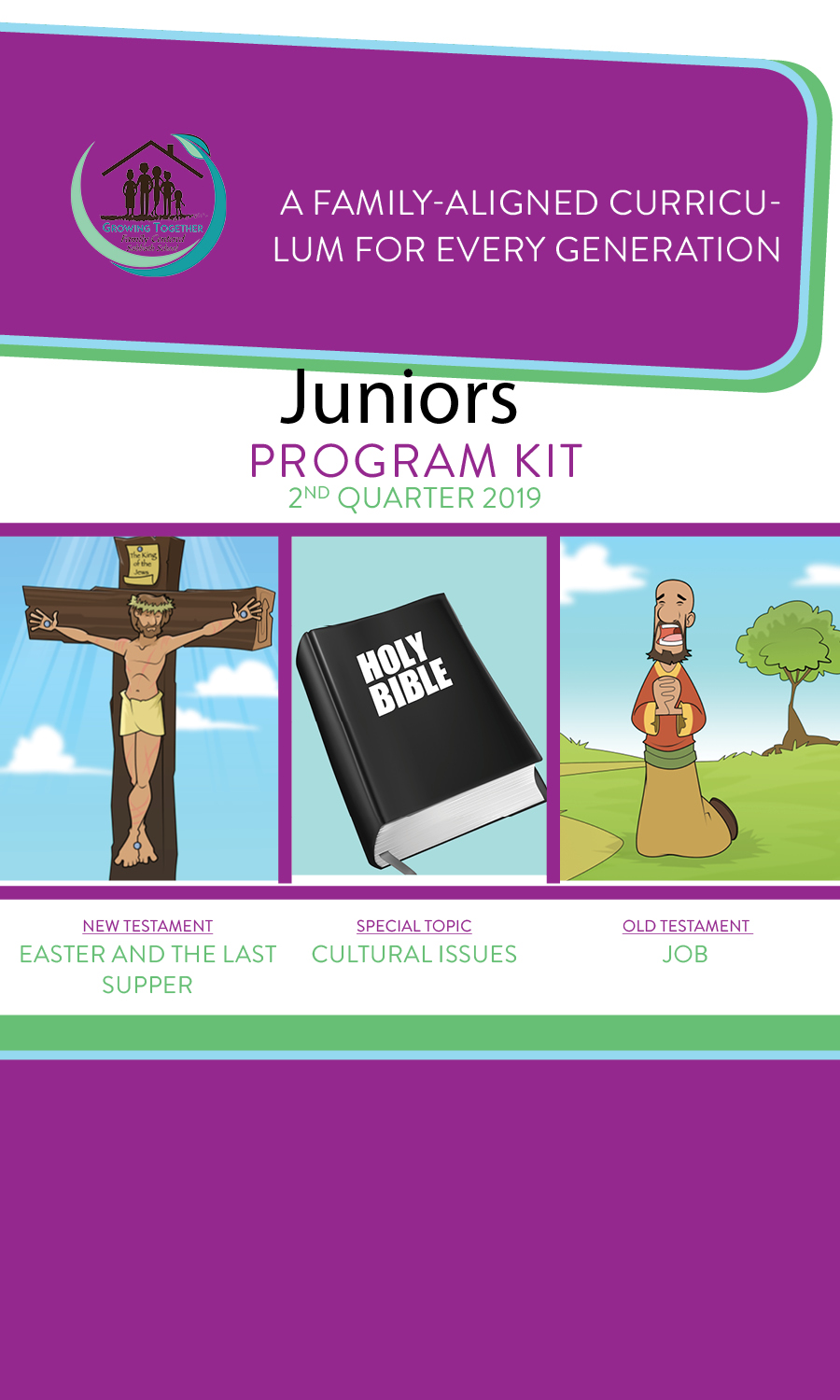 Growing Together SS Curriculum Junior Teaching Kit 2nd Qtr 19 Standing Order