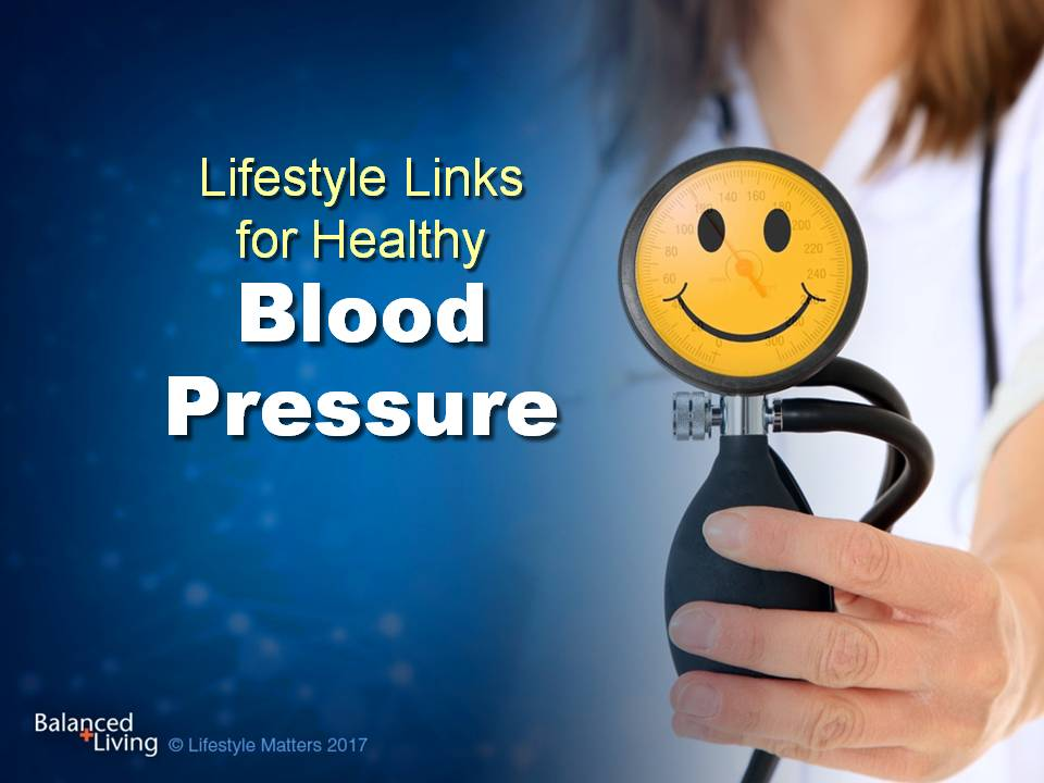 Lifestyle Links for Healthy Blood Pressure - Balanced Living - PowerPoint Download