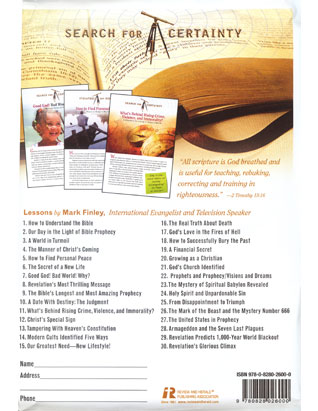 Search for Certainty Bible Study Guides