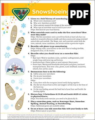 Builder Snowshoeing Award - PDF Down