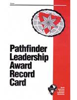 Pathfinder Leadership Award Record Card