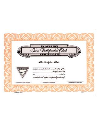 Pathfinder Induction Certificate (Teen)