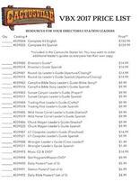 Cactusville VBX Price list