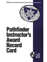 Pathfinder Instructor Award Record Card