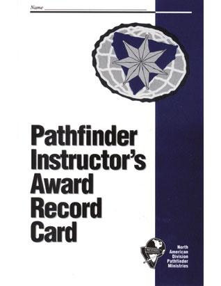 Pathfinder Instructor Award Record Card