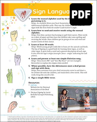 Helping Hand Sign Language Award - PDF Download