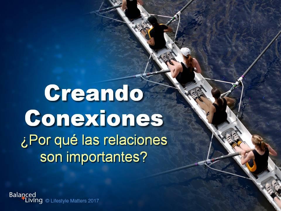Viviendo en equilibrio -Creando conexiones: ¿Por qué importan las relaciones? -Descargar presentaciones de PPT